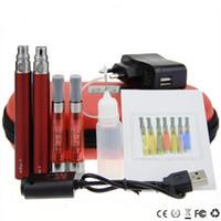 kit de vaporizador ce5 al por mayor-CE5 + Kit doble funda de eGo cremallera kit de inicio cigarrillos electrónicos CE5 más atomizador 650mah 900mah 1100mah batería vaporizador de vapor de cig