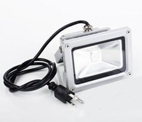 Wholesale Outdoor Plug Flood Light - Wholesale- (10pcs lot)10W 20W 30W 50W LED Floodlight Outdoor LED Flood light lamp 85V-265V wash flood light white warm rgb with Power Plug