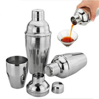 Wholesale Stainless Steel Wine Shaker - Stainless Steel Boston Shaker Cocktail Shaker Cocktail Mixer Wine Martini Drinking Boston Style Shaker For Party Bar Tool OOA1854
