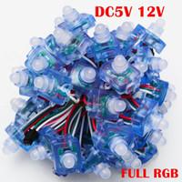 Wholesale Led Module Light Strings - Umlight1688 500pcs Square Pixel LED Module DC5V WS2811 12mm IP68 Waterproof LED String Light RGB Dream Color