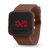Wholesale Ks Automatic Mechanical Gold - Wholesale LED display mirror leisure sports, second generation multi-function watches, plastic mirror watches, electronic watches