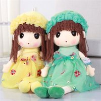 Wholesale Wholesale Wigs For Dolls - Factory wholesale Hua Xianzi Mayfair doll plush toy doll wedding creative girls pillow gifts for children Frozen 45--90cm Princess Els