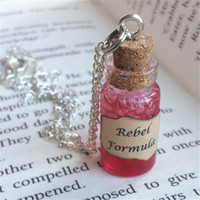 12pcs / lot Rebel Formula Bottle Pendant Necklace ispirato da Ribelli The Reverians