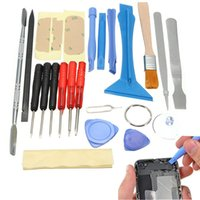 Wholesale Iphone Opening Kit - 22 in 1 Open Pry Mobile Phone Repair Screwdrivers Sucker hand Tools set Kit For Cell Phone Tablet Repair Tools PIT_32W