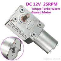 Wholesale 12v Worm Gear Motor - High Quality 12V 10Rpm Reversible High Torque Turbo Worm Geared Motor DC Motor JGY370 New Arrival