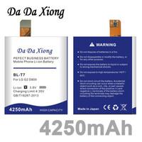 Wholesale Lg Optimus G2 - Da Da Xiong 4250mAh BL-T7 BL T7 BLT7 Battery for LG Optimus G2 D800 D802 D801 L-01F LS980 P693 VS9801 VS980 LS980
