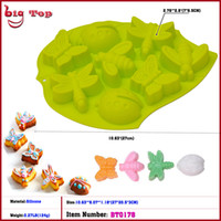 Wholesale Dragonflies Silicone Mold - 10.63 Inch Silicone Insect Shape Cake Mold Animal Cake Mold With Dragonfly Coccinella Septempunctata and Bee