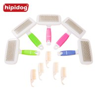 Wholesale Rubber Brush For Dogs - Hipidog 1 Set Rubber Non-slip Handle Steel Needle Pet Hair Comb Massage Grooming for Puppy Dog Cat Brush Pet Care Tools