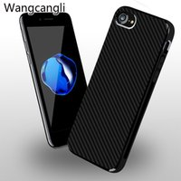 Wholesale Modern Iphone - For iPhone 7   7 Plus Thin Carbon Fiber Phone Case for iphone 6 6s Shell Wear Resistant Case Stylish Modern Matte Anti-Skid Capa