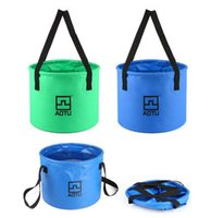 Wholesale Camping Foldable Buckets - Big Capacity 12L Portable Water Container Foldable Supply Cordura Nylon Bucket Box Washbowl For Outdoor Camping Picnic BBQ Travel Fishing