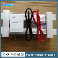 Wholesale Pure Sine Power Inverter - Wholesale- Pure Sine Wave Car Power Inverter 4000W Dc12v 24v To Ac 220v Car Converter Inverters For Solar Boat Home Appliances