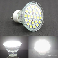 Wholesale mr16 lumens - Energy Saving 5W Led GU10 E27 E14 MR16 Bulb Lights 120 Angle 385 Lumens 24pcs 5050 SMD Warm Pure White Led Spotlights 185-265V