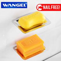 krom tutucu toptan satış-Wangel Ücretsiz Nakliye Sabunluk / Sabunluk / Sabunluk / Sabunluk Paslanmaz Çelik Modern Banyo Aksesuarı Chrome Tırnak Serbest