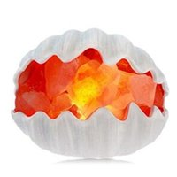 Wholesale Night Lamp Ceramic Wholesale - NEW Sea Shell Crafted Himalayan Natural Crystal Salt Lamp with Bulb and Dimmer Control Air Purification Therapy Night Light Salt Table Lamp