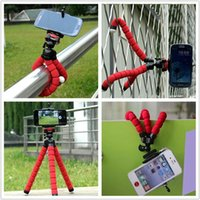Wholesale Octopus Iphone - Flexible universal Car Phone Holder Octopus Tripod Bracket Holder Stand Mount Monopod For Samsung iphone Gopro 4 3+ SJ4000 Camera Camcorder