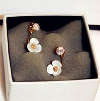 Wholesale Glitter Studs - hot sale Fashion luxury style Europe America popular flower glittering diamond zircon designer woman lady stud earring