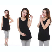 Wholesale Maternity Summer Wear Clothes - 2017 Pregnancy Maternity Tops Elastic Oversized Maternity Nursing Wear Maternity Nursing Clothes Nursing Vest Summer Underwear