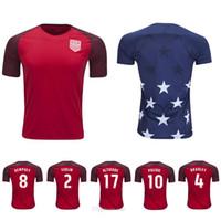 Wholesale National Soccer Team Uniform - Whosales Discount USA Jersey New 2018 Soccer Jerseys Uniform,Chandal USA National Team Jersey Soccer 17 18 Football Shirt Dempsey Pulisic