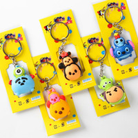 Wholesale Keychains Character - Hot !100 pcs Popular Tsum Mickey Minnie Double-Edged Keychain Bag Pendant Children Toy Gifts Party Favors Mix 5 style