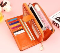 Wholesale Dress China Girls - wholesale China famous brand original genuine girl leather wallet