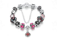 Wholesale Vintage Diamond Bracelets - Vintage roses Bead Charm Bracelet Silver 925 for Women Original Safety Chain Jewelry 2