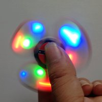 Venta al por mayor la bandera confederada Fidget Spinner Hand Spinner con LED LIGHT Toy para Stress Relief Toy