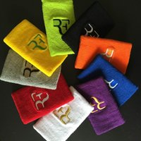 Wholesale Tennis Wristbands Wholesale - Wholesale- Free shipping(12pcs lot)Roger Federer Nadal Wristband tennis racket tennis racquet basketball wristband badminton wristband