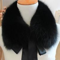 Wholesale Rabbit Fox Scarf - Top Fashion Solid New Winter Scarf Women Fox Fur Collar Rabbit Raccoon Caps Article Fake Warm winter female fashion large shawl