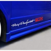 Wholesale Prius Sticker - TRD Racing Development Door Sticker Car Side Skirt Stickers for Toyota Corolla Avensis Auris Rav4 Yaris Prius Proda Crown