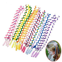 Wholesale Spiral Tails - 3Pcs Set Colorful Plastic Twist Barrette Spiral Hair Band For Women Girls Hair Accessories Elegant Hair Clip