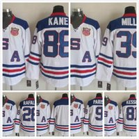 Wholesale Cheap Black Spandex - American USA Team Ice Hockey Jerseys 2017 Mens 88 Patrick Kane 81 Phil Kessel 39 Ryan Miller Stitched Cheap Jersey Free Shipping