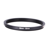 Wholesale Step Down Rings - Wholesale- Metal Step Down Ring Lens Adapter 58-55mm 58mm-55mm 58 to 55 Metal Step Down Lens Filter Ring Stepping Fit Adapter