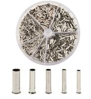 ingrosso wire round box-New Round Box 1900 pz Isolato Nudo Rame Crimp Wire Connector Terminale Pin Terminale di Isolamento 0.5mm 0.75mm 1.0mm 1.5mm 2.5mm
