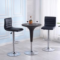 Wholesale Pub Chair - Modern Set of 2 Bar Stools Leather Adjustable Swivel Pub Chair In Multi Colors