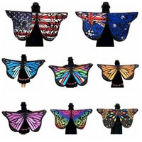 Wholesale Cartoon Printed Shawl - 8 Designs New Fashion 147*70cm Bohemia Printed Beach Towel Cartoon Butterfly Design Beach Shawl Yoga Mat CCA6384 120pcs