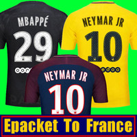 Wholesale Soccer Jerseys Paris - Thai Maillot de foot MBAPPE NEYMAR JR soccer jerseys 2018 DANI PSg ALVES PASTORE CAVANI VERRATTI PARIs Jersey 17 18 football soccer shirt