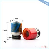Wholesale Dhl Free E Cigarette Products - Chinaye newest product e cigarette mouthpiece epoxy resin drip tip fit 510 rda rdta atomizer vape tank dhl free shipping