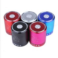 Wholesale sound boxes for mobile for sale - Group buy Mini Wireless T2020A Bluetooth Speaker Colorful Metal Sound Box Subwoofer Loudspeaker For Iphone Xiaomi Support TF Card Free DHL