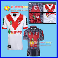 Wholesale George Shirts - rugby jersey shirt 2017 NRL National Rugby League St George Illawarra Dragons Mens Home Jersey New Zealand SS rugby Jerseys S - XXXL