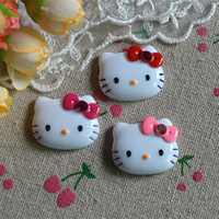 Wholesale Wholesale Cabochons For Hair Bows - 200pcs lot Kawaii Cat Flatback Resin Cabochons craft DIY for phone decoration hair bow Home Decoration 2.5cm*2.2cm