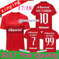Wholesale N Shirts - Internacional top quality 2017 2018 RED HOME soccer jerseys 17 18 N. LOPEZ D.ALESSANDRO POTTKER CLUB football shirts Free shipping
