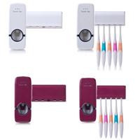 berührungsspender großhandel-2018 Touch Me Automatischer Zahnpastaspender mit Zahnbürstenhalter-Set Einfach zu verwendender Zahnpastaspender Zahnbürstenhalter von hoher Qualität