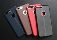 Wholesale Iphone Leather Case Car - 2017 New High quality For iPhone 7   6s New Leather Car Line Plus Metal Ring Phone Case Business Soft Case Wholesale via Free Shipping
