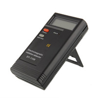 Wholesale Electromagnetic Equipment - 10pcs DT1130 Electromagnetic Radiation Detector EMF Meter Tester Ghost Hunting Equipment without package DHL free shipping