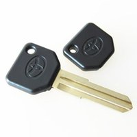 Wholesale blank car keys toyota - High quality car replacement transponder key blank shell for Toyota daihatsu transponder key cover free shipping