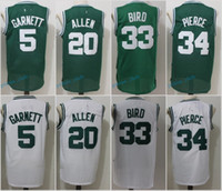 7801f914a Basketball Unisex Sleeveless Throwback Basketball Jerseys 5 Kevin Garnett  20 Ray Allen 34 Paul Pierce 33