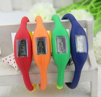 Wholesale Digital Watch Colour - 10 different colour Fashion Wrist Ion Sport Watch 1ATM waterproof silicone watch from churchill