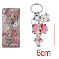 Wholesale puella figure for sale - Group buy Anime Puella Magi Madoka Magica Kyuubee Metal Figure Keychain Pendants Alloy Charms with ring cm tall