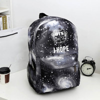 Wholesale Girl Books - Wholesale- Bangtan Boys BTS backpack,korean kpop stars school bag , boys girls book laptop satchel ,V,Rap Monster,JIN,SUGA