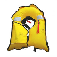 Wholesale Life Vests - Wholesale- Adult Universal Automatic Inflatable life Jacket 150N Buoyancy Aid Sea Sailing Boating Survival vest